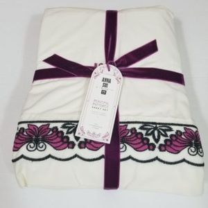 Pottery Barn Anna Sui Butterfly Sheet Set Full